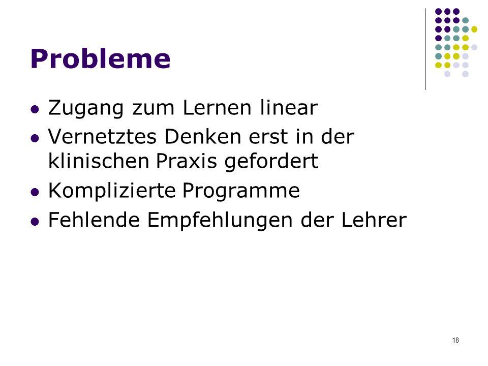 Probleme Zugang zum Lernen linear