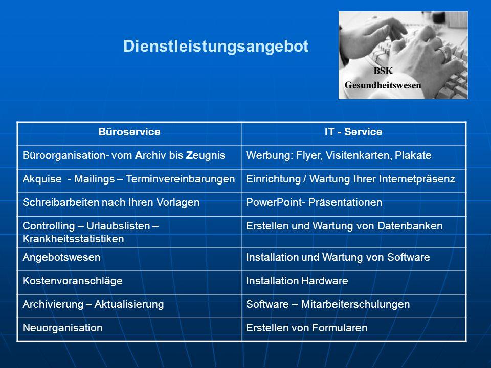 Dienstleistungsangebot