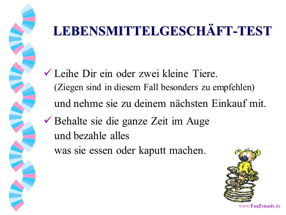 LEBENSMITTELGESCHÄFT-TEST