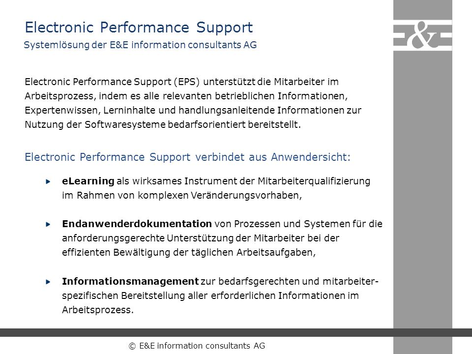 Electronic Performance Support