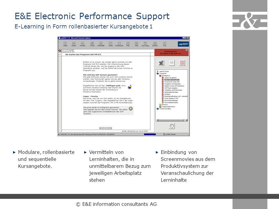 E&E Electronic Performance Support