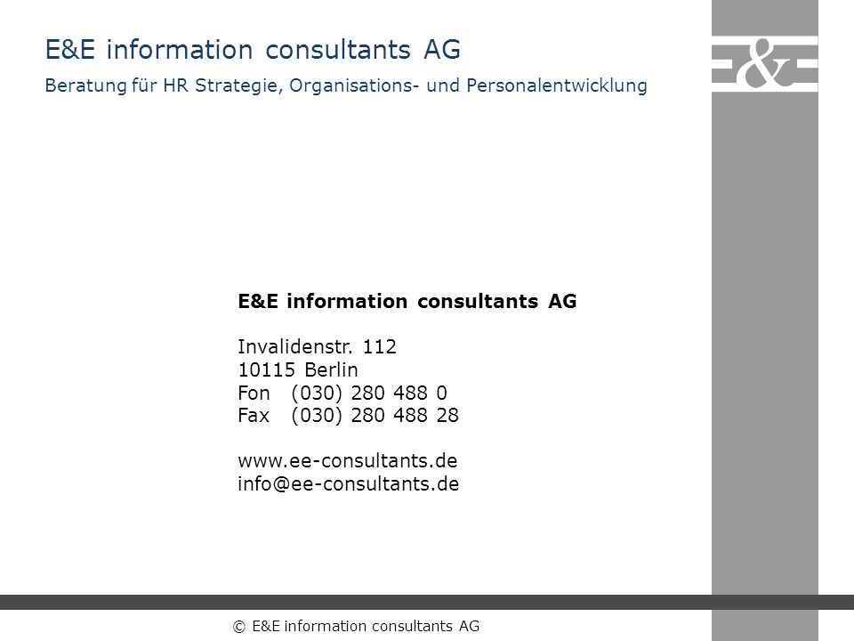 E&E information consultants AG