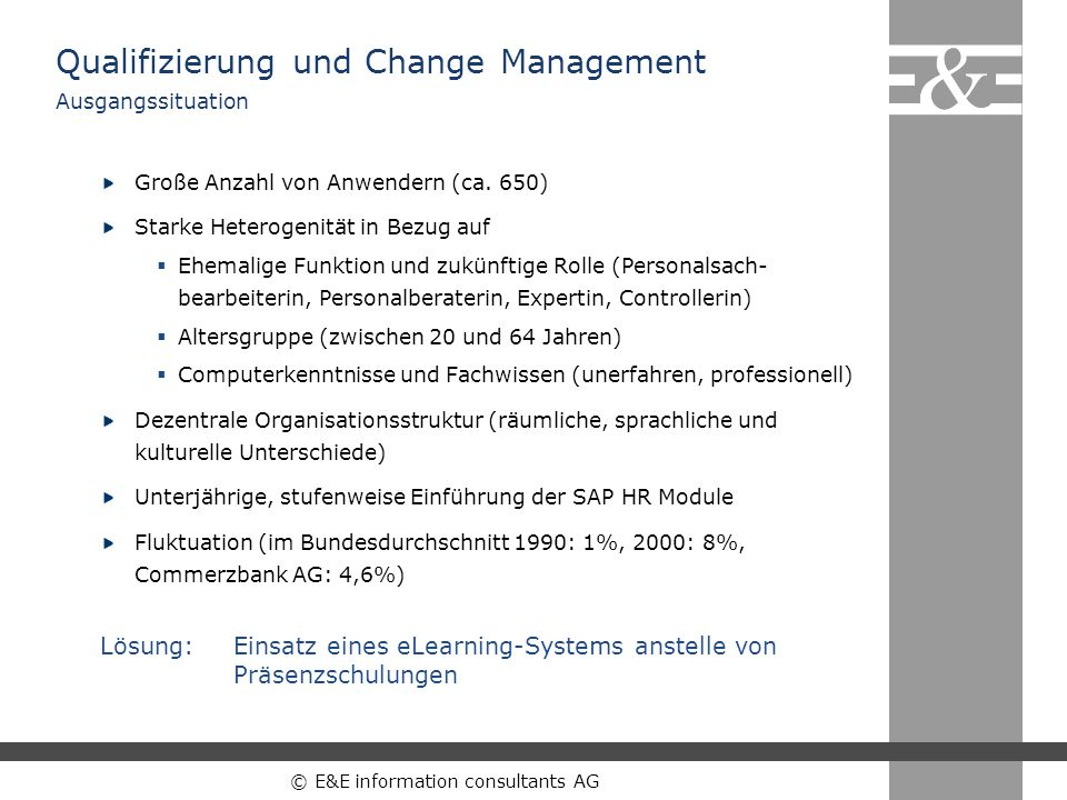 Qualifizierung und Change Management