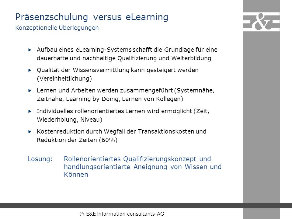 Präsenzschulung versus eLearning