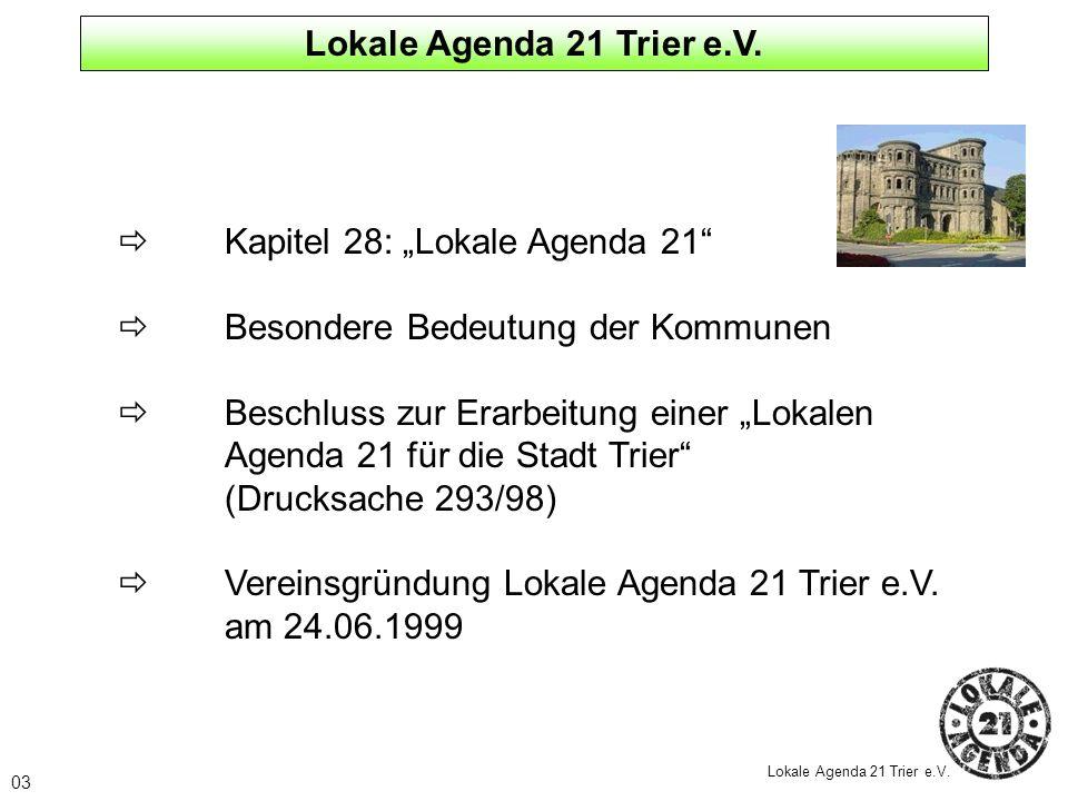 """ Kapitel 28: """"Lokale Agenda 21  Besondere Bedeutung der Kommunen"""