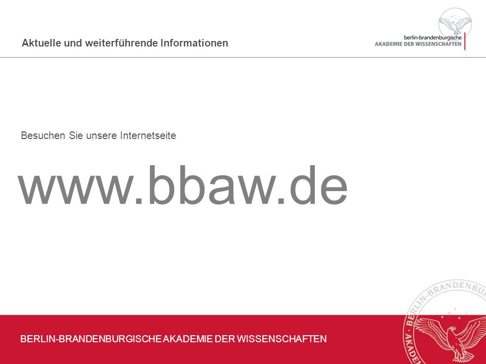 BERLIN-BRANDENBURGISCHE AKADEMIE DER WISSENSCHAFTEN