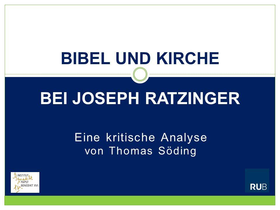 Bibel und Kirche bei Joseph Ratzinger