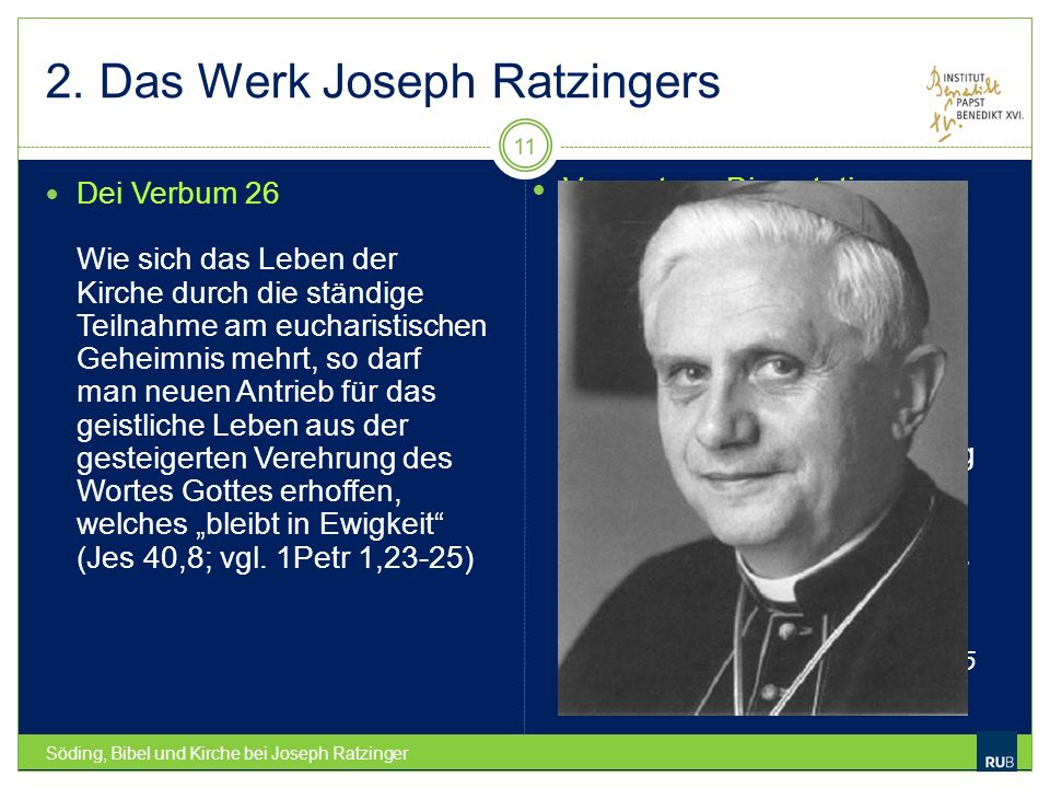 2. Das Werk Joseph Ratzingers