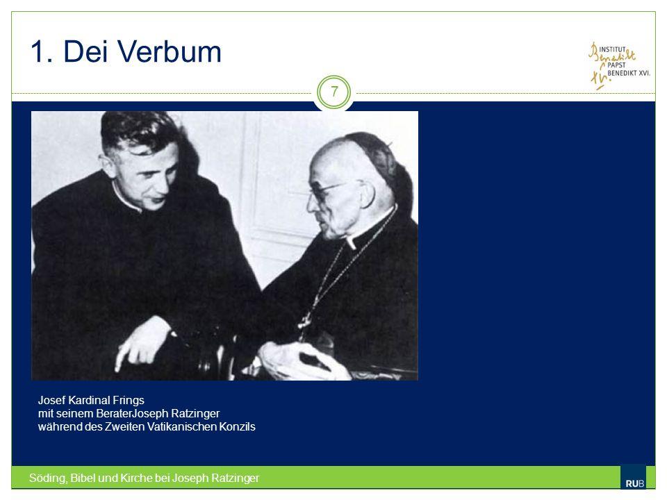 1. Dei Verbum Josef Kardinal Frings mit seinem BeraterJoseph Ratzinger