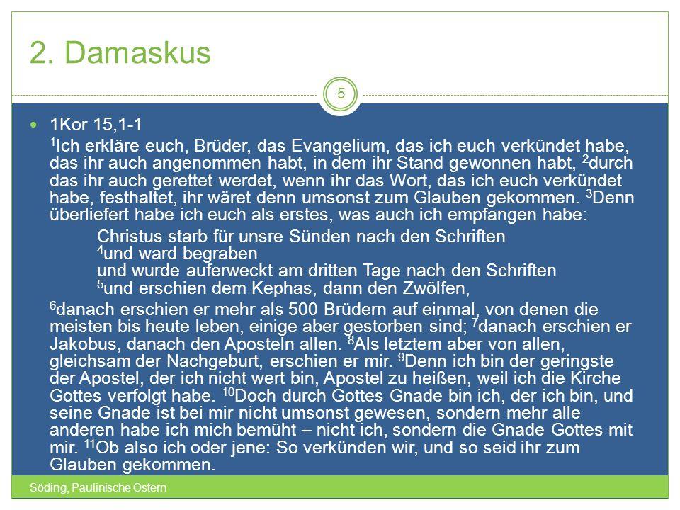 2. Damaskus 1Kor 15,1-1.