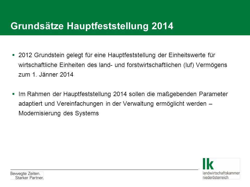 Grundsätze Hauptfeststellung 2014