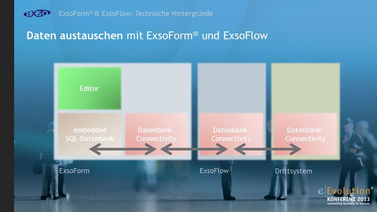 Daten austauschen mit ExsoForm® und ExsoFlow