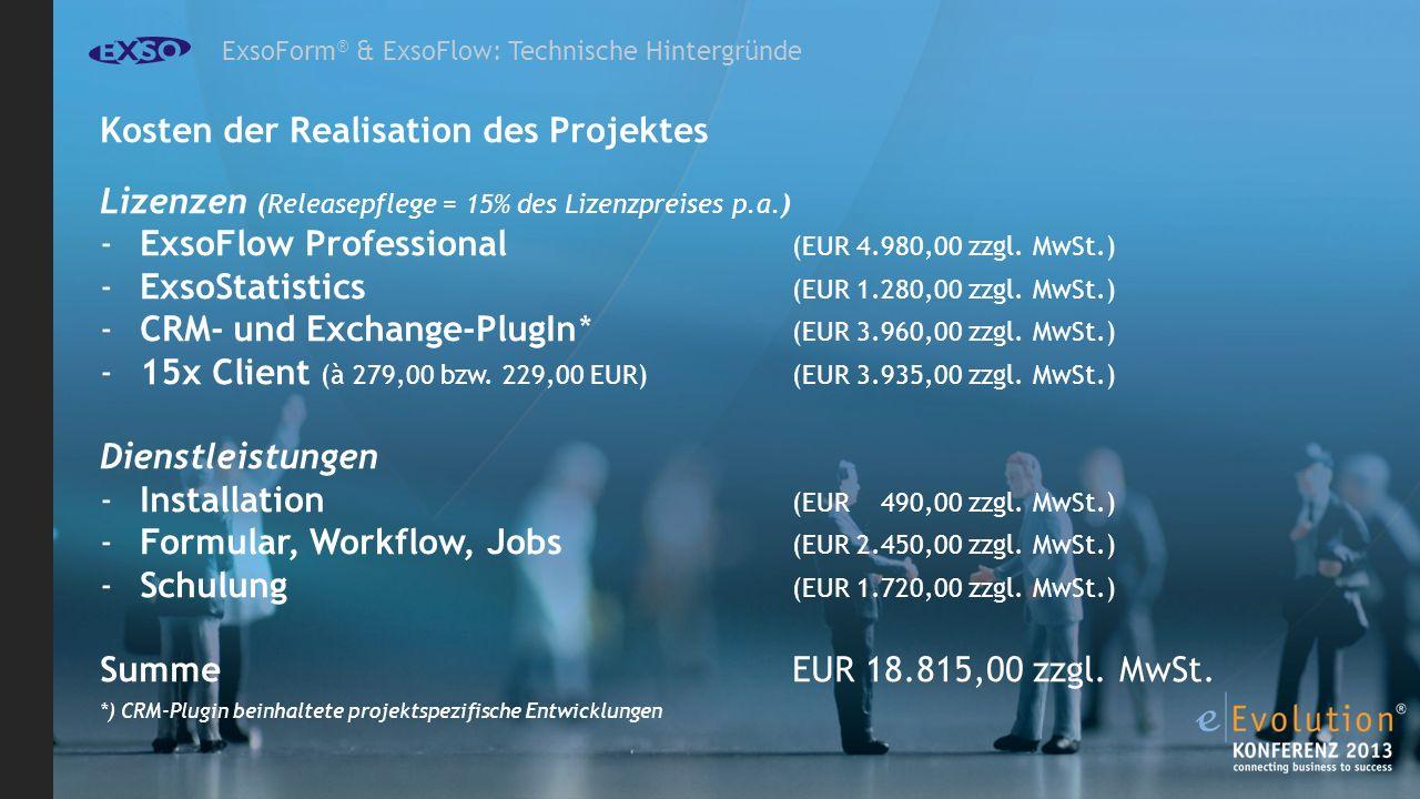 Kosten der Realisation des Projektes