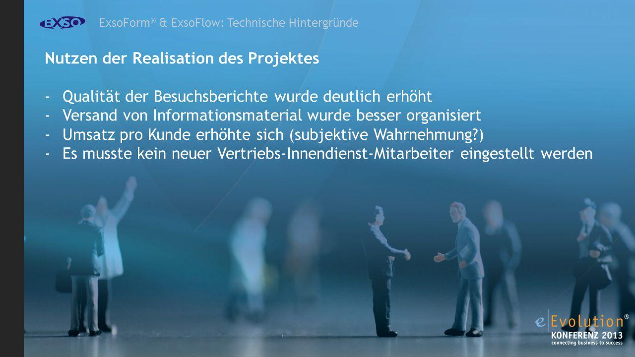 Nutzen der Realisation des Projektes