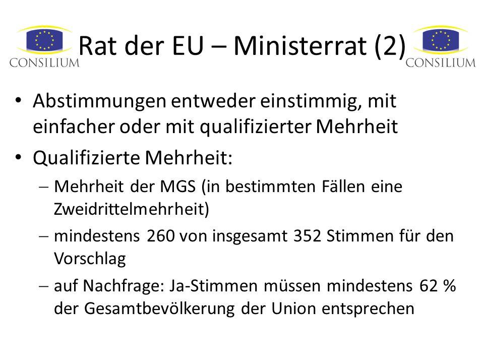 Rat der EU – Ministerrat (2)