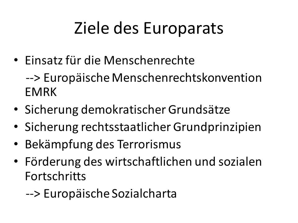 Ziele des Europarats Einsatz für die Menschenrechte