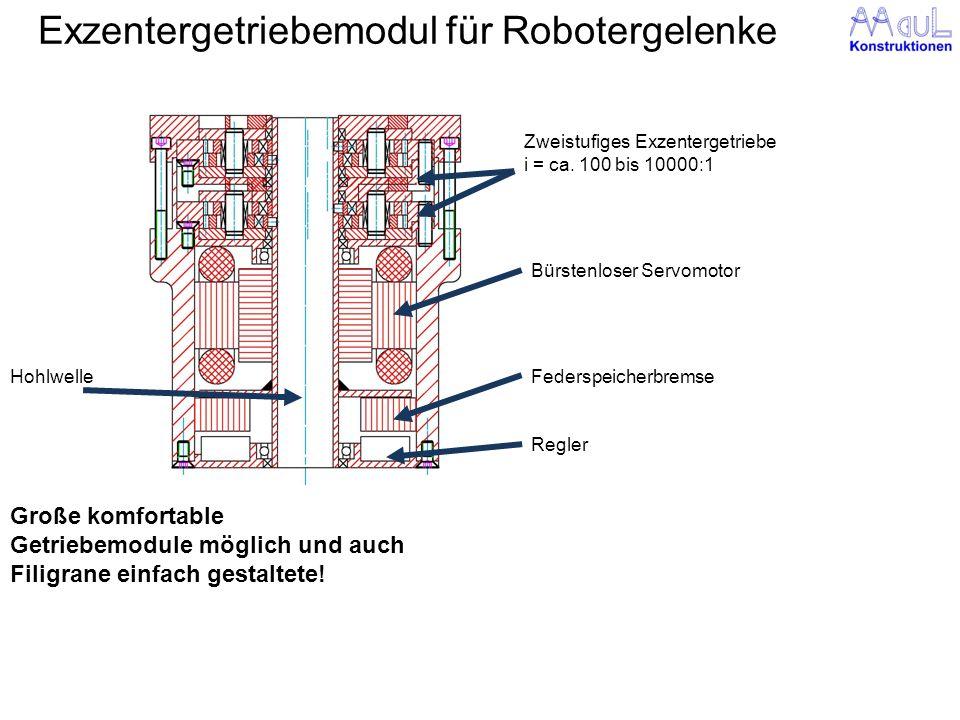 Exzentergetriebemodul für Robotergelenke
