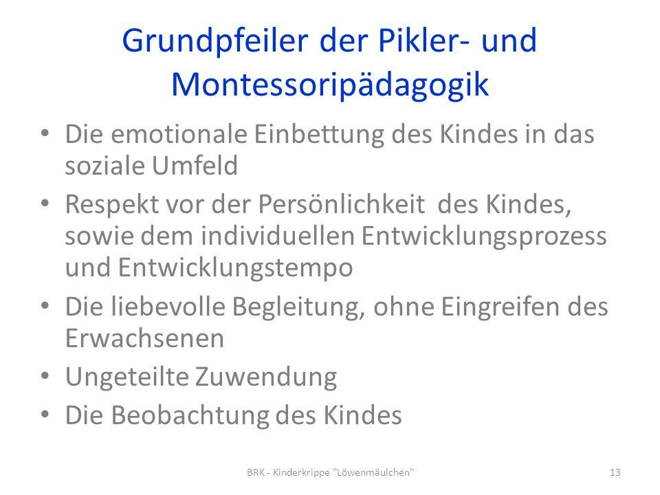 Grundpfeiler der Pikler- und Montessoripädagogik