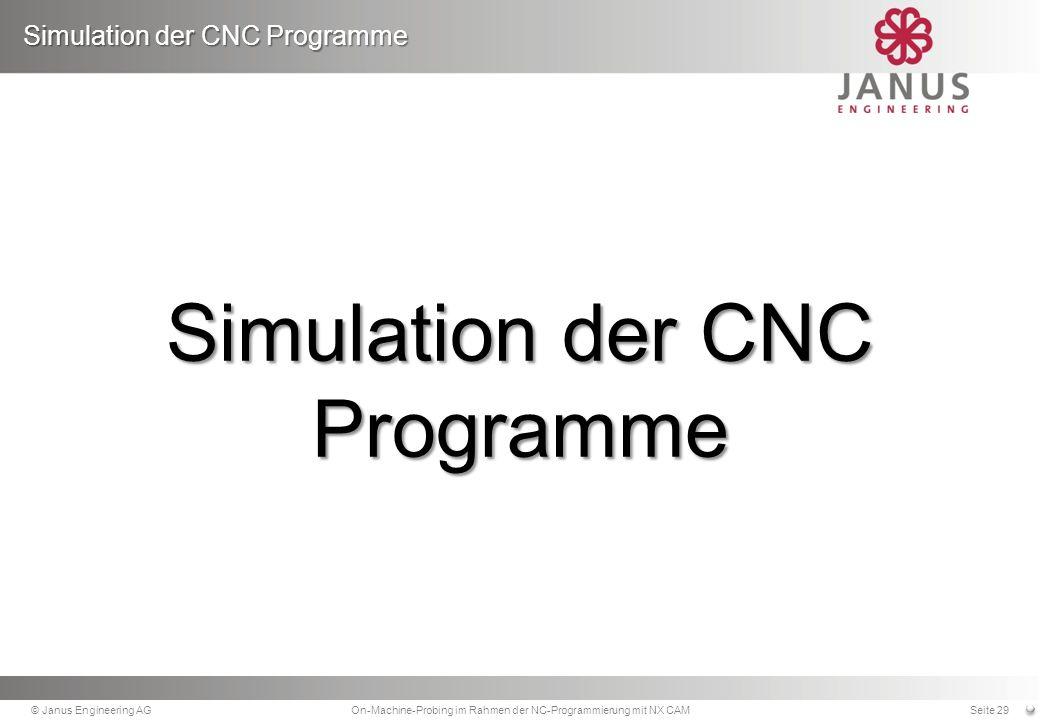 Simulation der CNC Programme