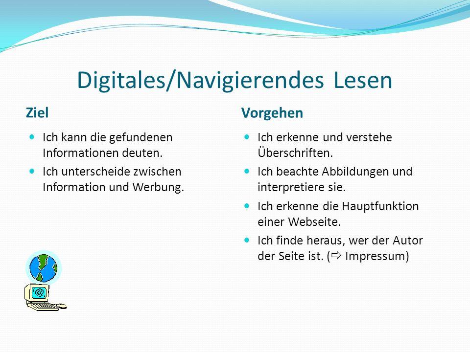 Digitales/Navigierendes Lesen