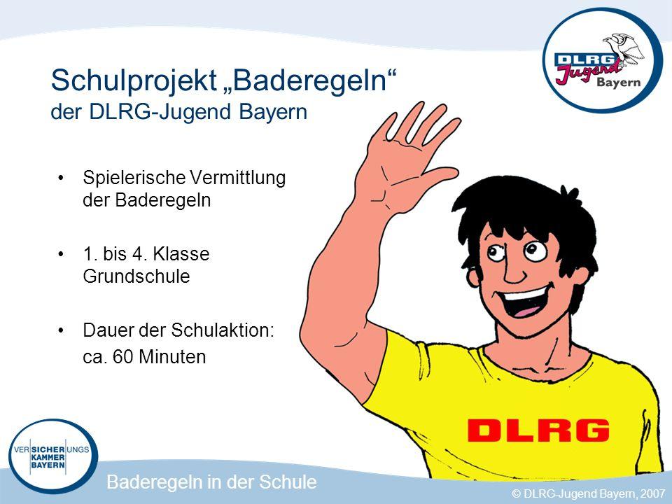 """Schulprojekt """"Baderegeln der DLRG-Jugend Bayern"""