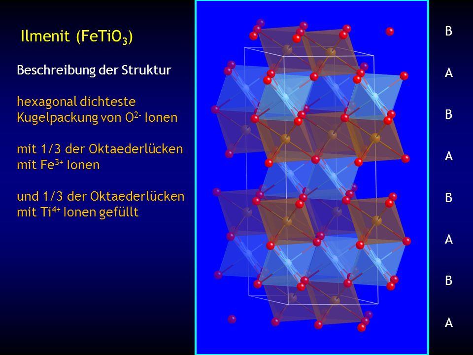 Ilmenit (FeTiO3) Beschreibung der Struktur