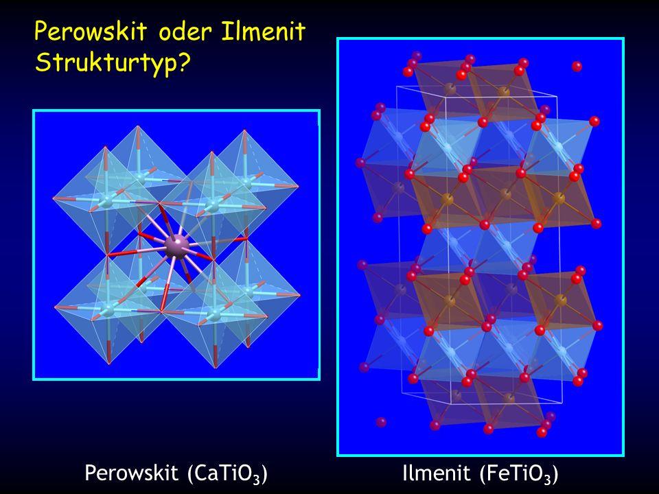 Perowskit oder Ilmenit Strukturtyp