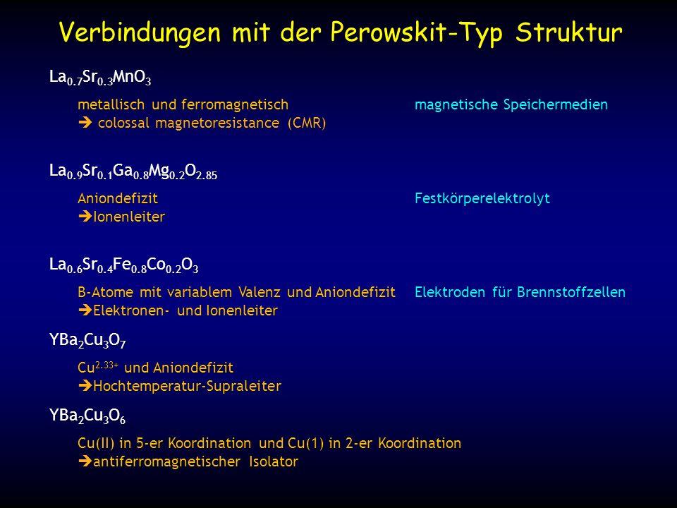 Verbindungen mit der Perowskit-Typ Struktur