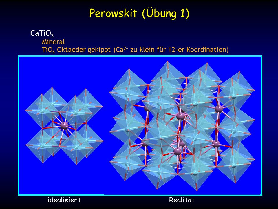 Perowskit (Übung 1) CaTiO3 Mineral