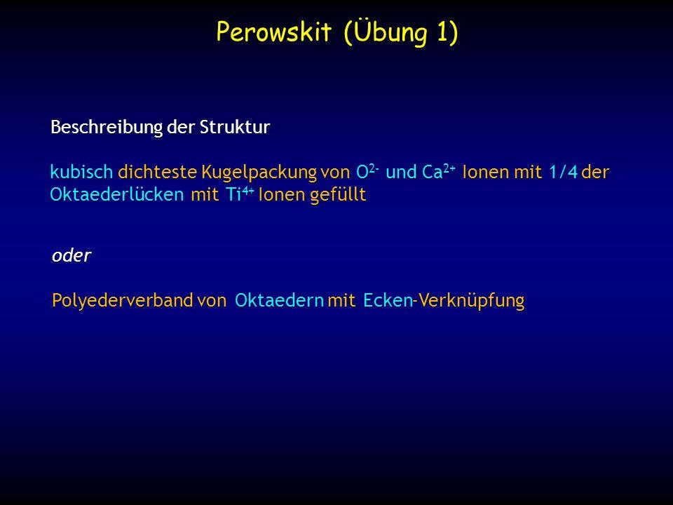 Perowskit (Übung 1) Beschreibung der Struktur