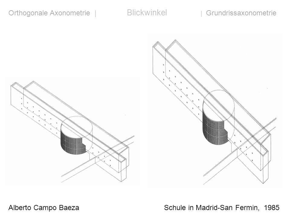 Orthogonale Axonometrie | Blickwinkel | Grundrissaxonometrie