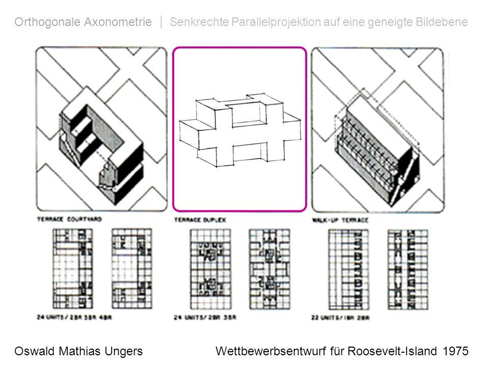 Orthogonale Axonometrie | Senkrechte Parallelprojektion auf eine geneigte Bildebene