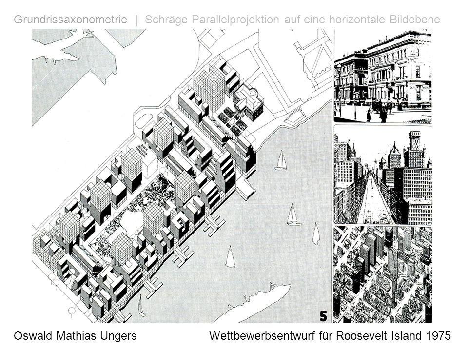 Grundrissaxonometrie | Schräge Parallelprojektion auf eine horizontale Bildebene