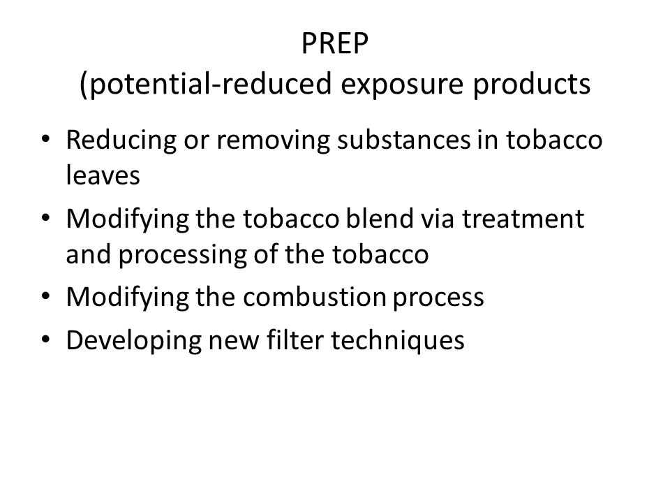 PREP (potential-reduced exposure products