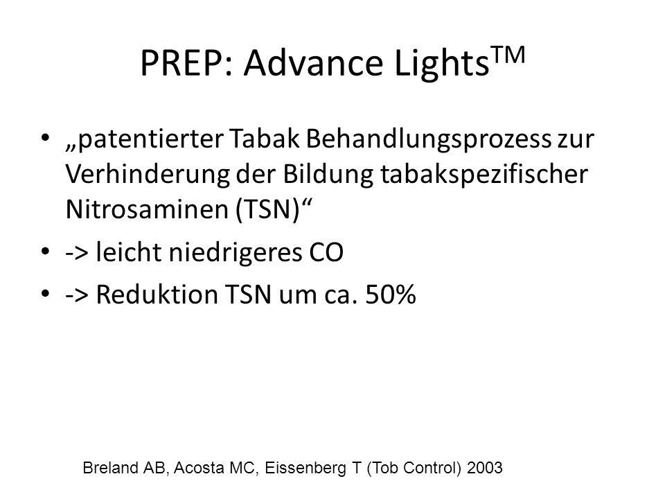 PREP: Advance LightsTM