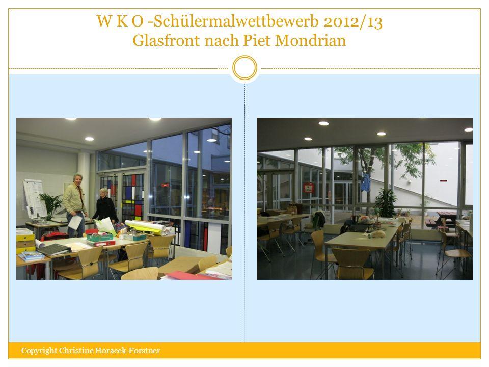 W K O -Schülermalwettbewerb 2012/13 Glasfront nach Piet Mondrian