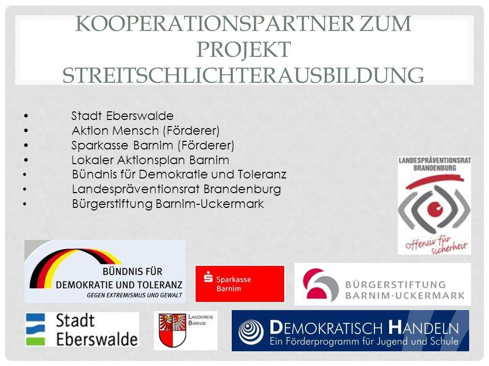 Kooperationspartner zum Projekt Streitschlichterausbildung