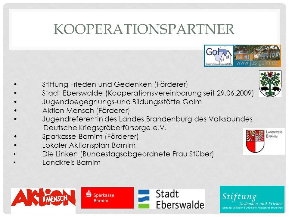 Kooperationspartner • Stiftung Frieden und Gedenken (Förderer)