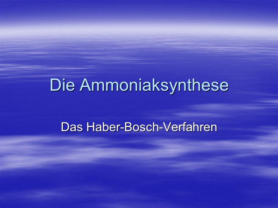 Das Haber-Bosch-Verfahren