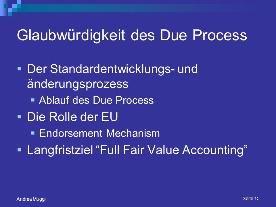 Glaubwürdigkeit des Due Process
