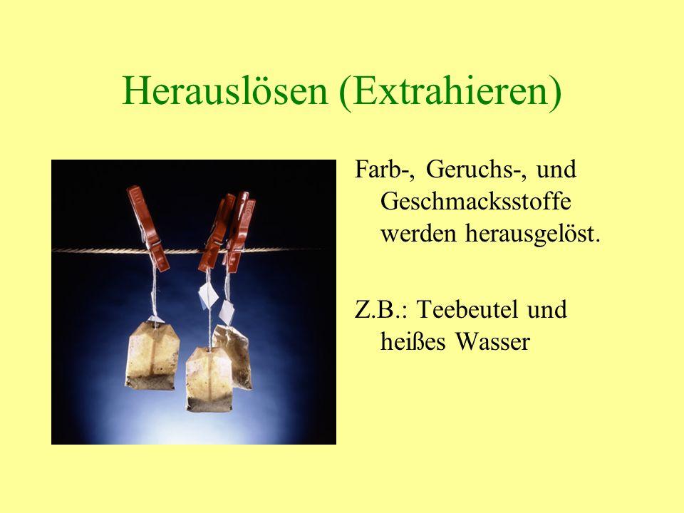 Herauslösen (Extrahieren)