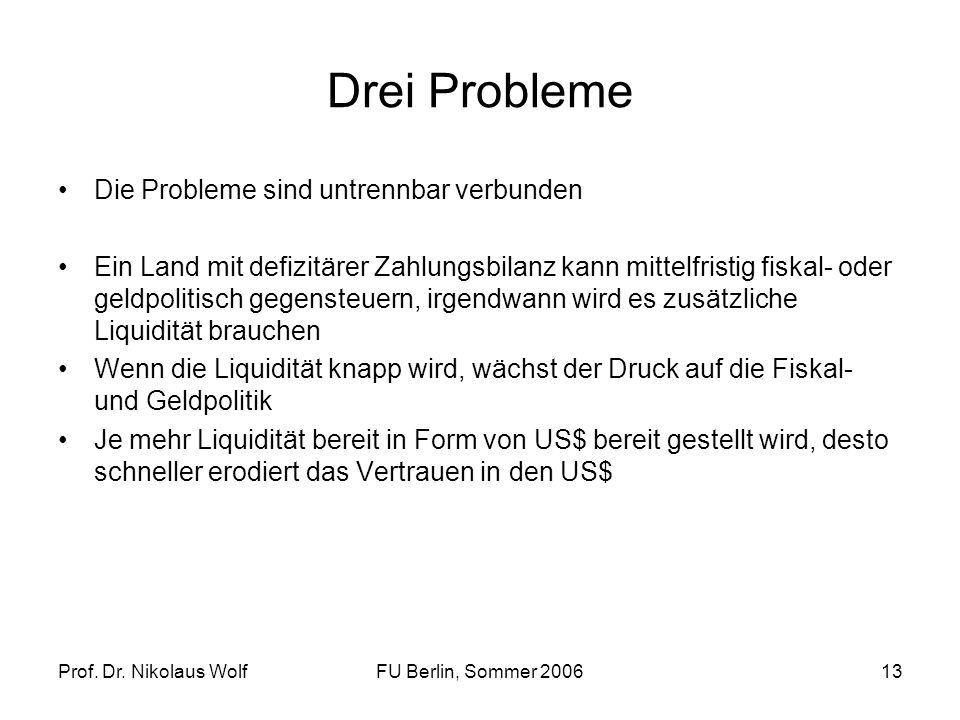 Drei Probleme Die Probleme sind untrennbar verbunden