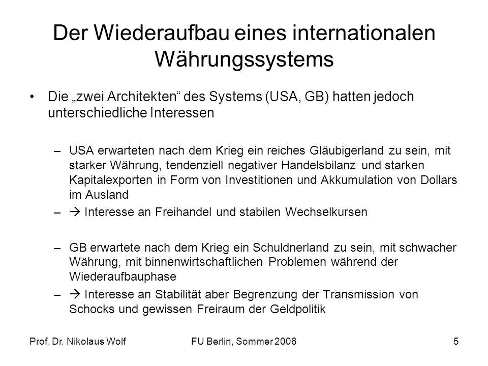Der Wiederaufbau eines internationalen Währungssystems