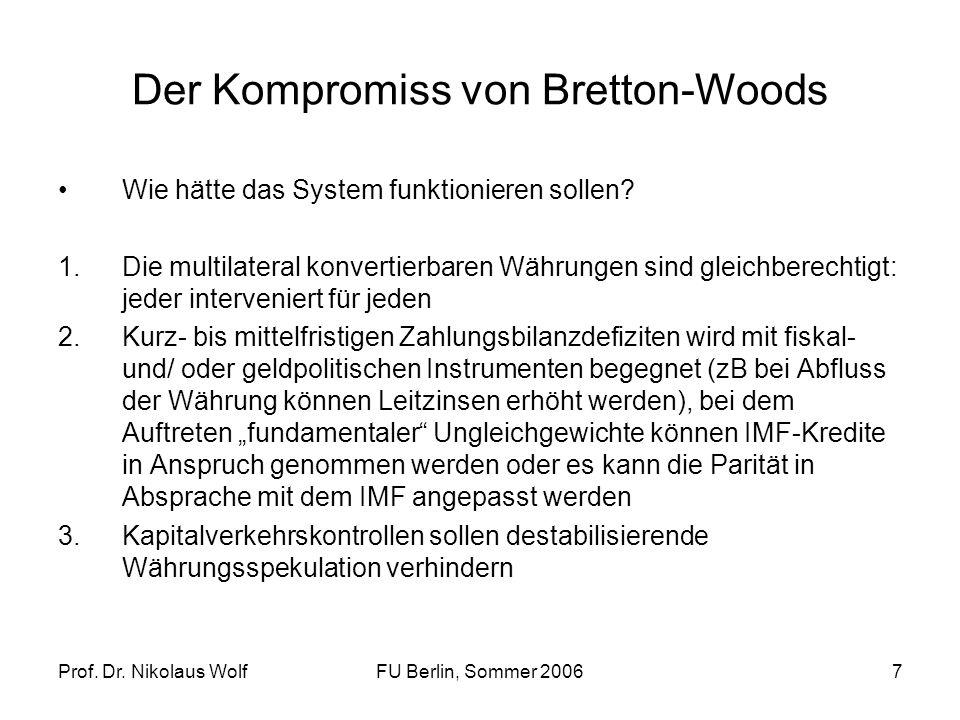 Der Kompromiss von Bretton-Woods