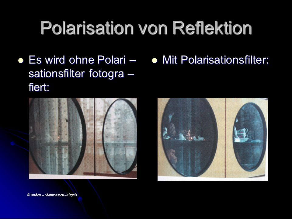 Polarisation von Reflektion