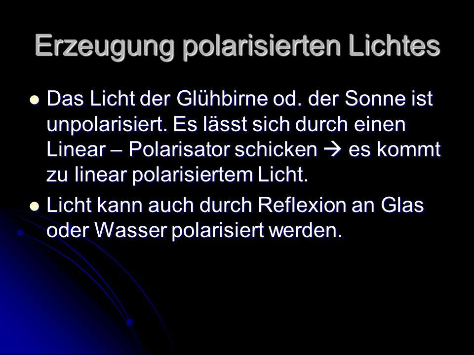 Erzeugung polarisierten Lichtes
