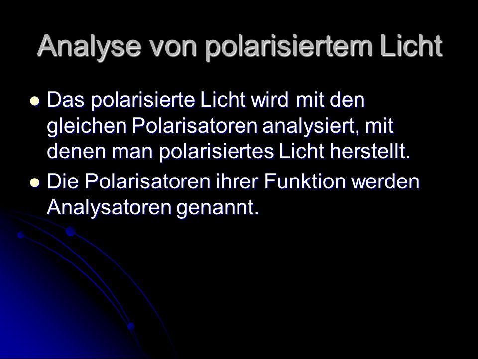 Analyse von polarisiertem Licht
