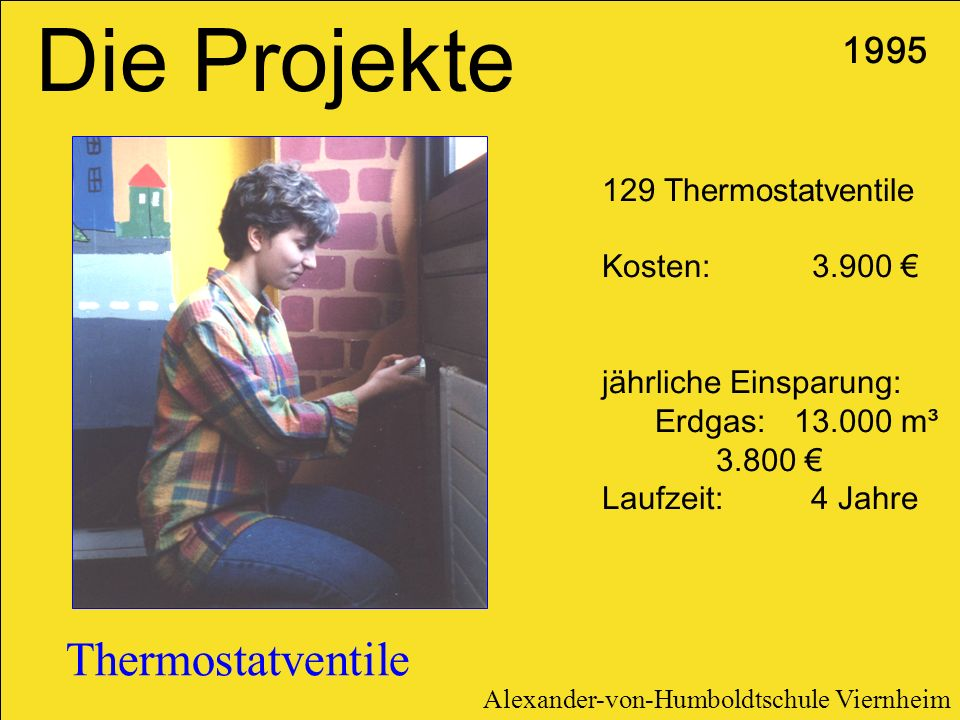 Die Projekte Thermostatventile Thermostatventile
