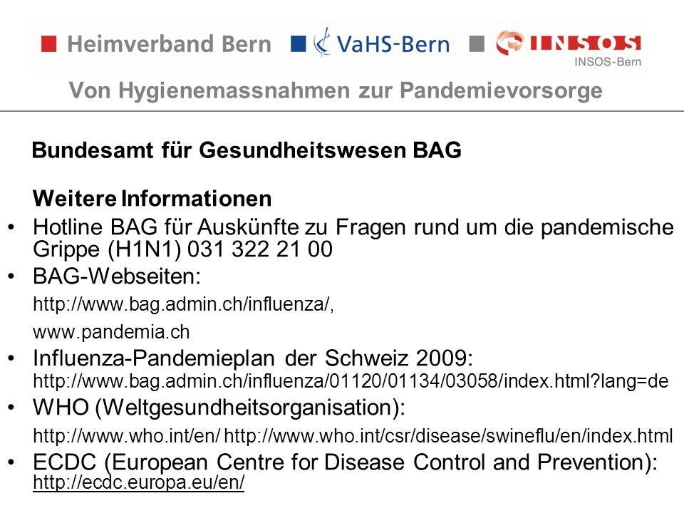 Von Hygienemassnahmen zur Pandemievorsorge