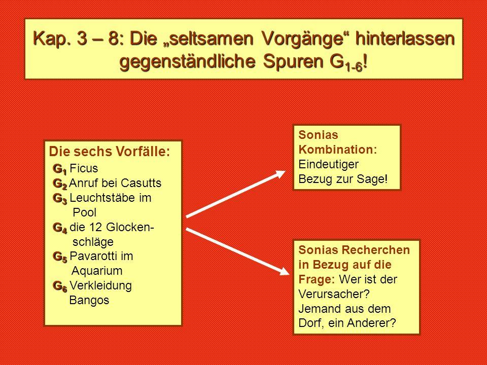 """Kap. 3 – 8: Die """"seltsamen Vorgänge hinterlassen gegenständliche Spuren G1-6!"""